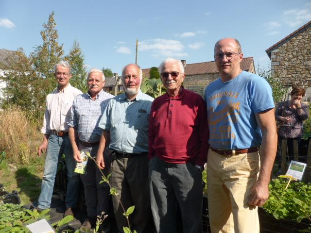 Le comité SRAWE le 1er septembre 2018, lors de notre visite à APIFLORA